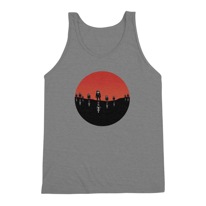 Something Strangely Familiar Men's Triblend Tank by Zombie Rust's Artist Shop