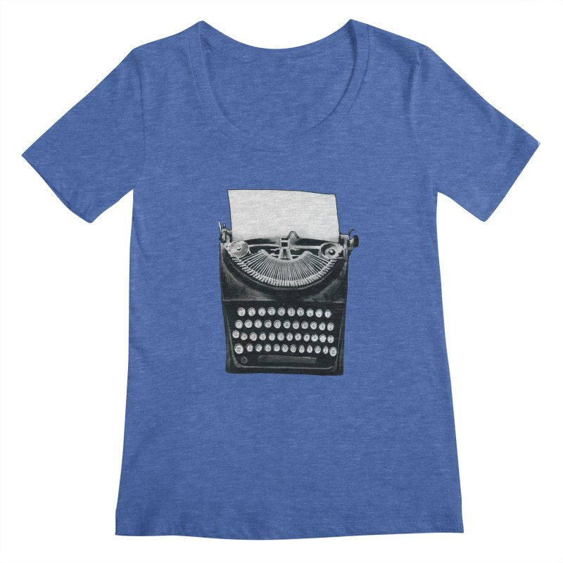 These Books Must Be Destroyed! Women's Scoopneck by Zombie Rust's Artist Shop