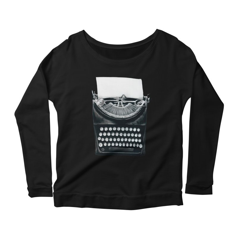 These Books Must Be Destroyed! Women's Longsleeve Scoopneck  by Zombie Rust's Artist Shop