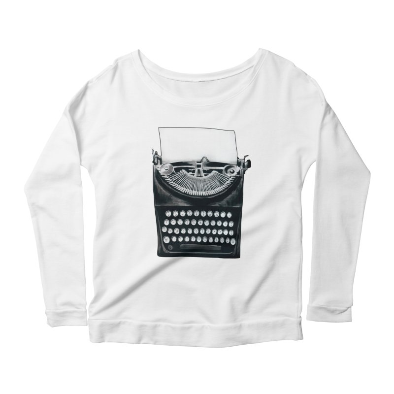 These Books Must Be Destroyed! Women's Scoop Neck Longsleeve T-Shirt by Zombie Rust's Artist Shop