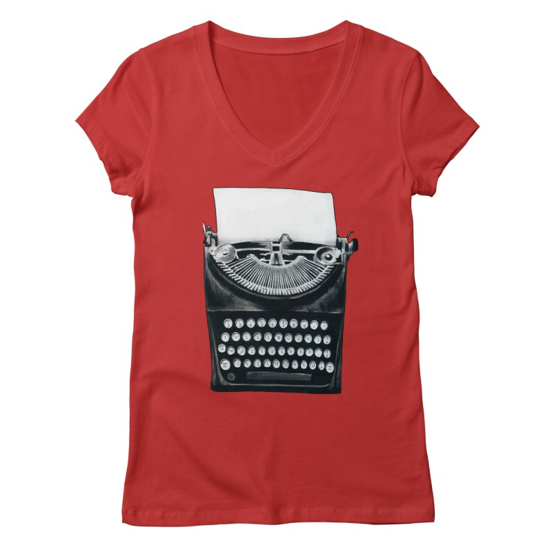 These Books Must Be Destroyed! Women's Regular V-Neck by Zombie Rust's Artist Shop