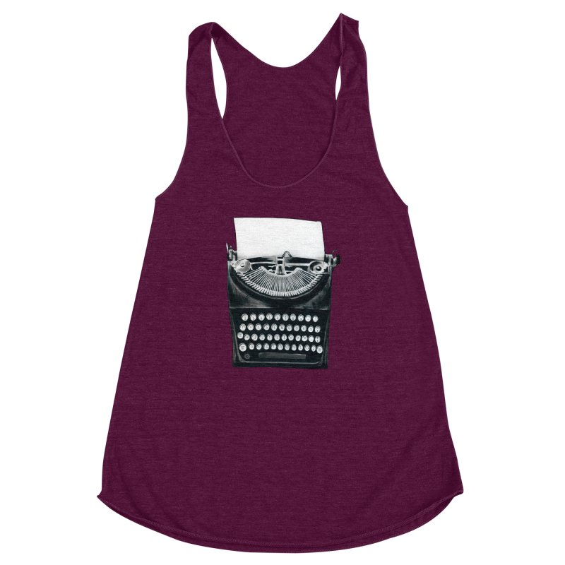These Books Must Be Destroyed! Women's Racerback Triblend Tank by Zombie Rust's Artist Shop