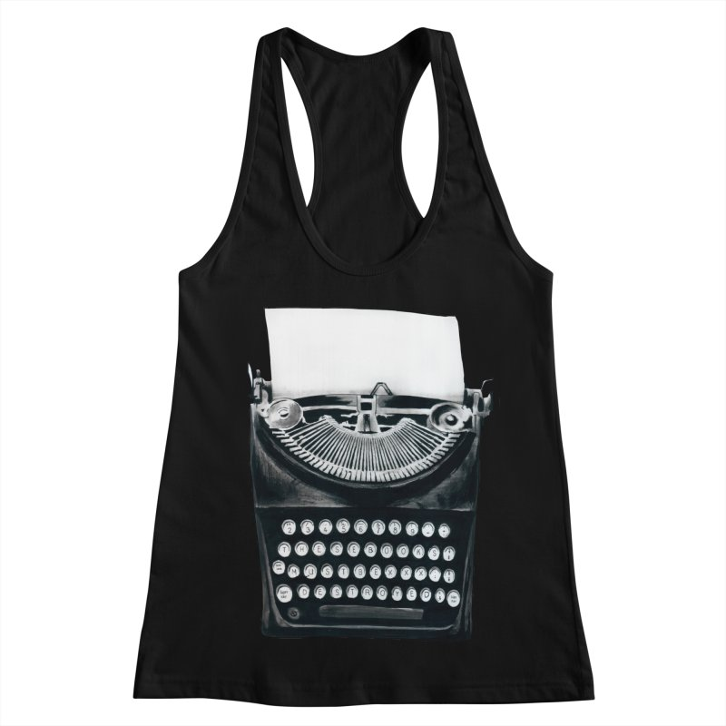 These Books Must Be Destroyed! Women's Racerback Tank by Zombie Rust's Artist Shop