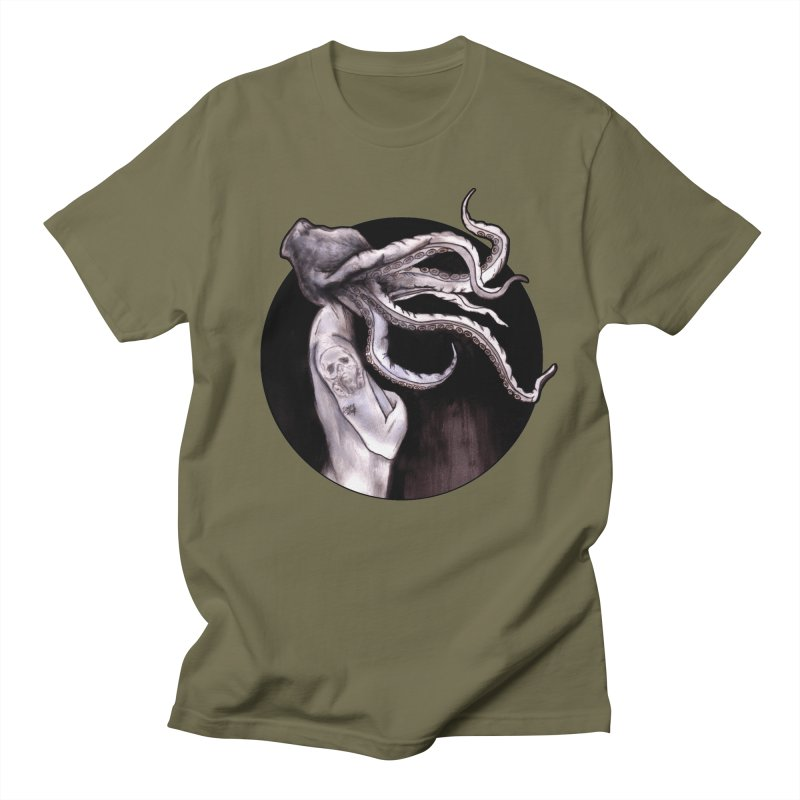 Something Touched Me And I Was Only Sleeping Men's Regular T-Shirt by Zombie Rust's Artist Shop