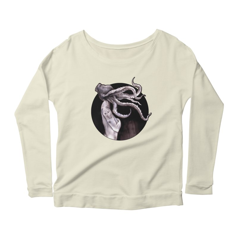 Something Touched Me And I Was Only Sleeping Women's Longsleeve Scoopneck  by Zombie Rust's Artist Shop