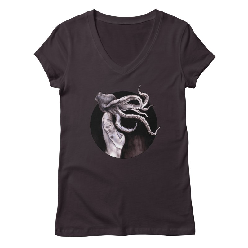 Something Touched Me And I Was Only Sleeping Women's Regular V-Neck by Zombie Rust's Artist Shop