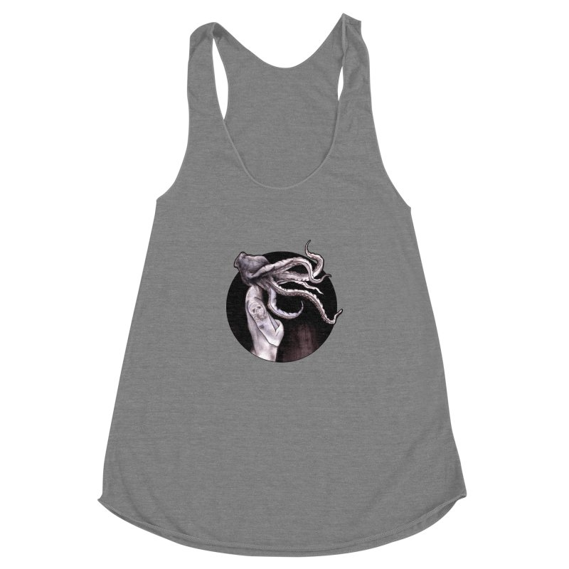 Something Touched Me And I Was Only Sleeping Women's Racerback Triblend Tank by Zombie Rust's Artist Shop