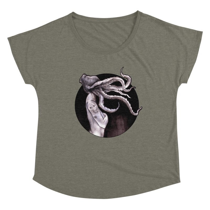 Something Touched Me And I Was Only Sleeping Women's Scoop Neck by Zombie Rust's Artist Shop