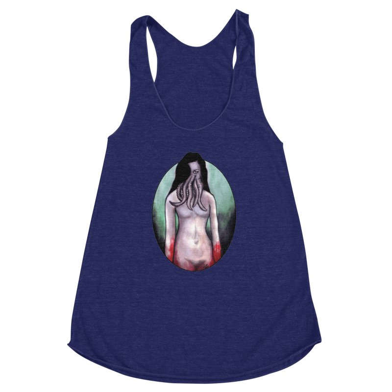 Someone Sent You Something Satanic Women's Racerback Triblend Tank by Zombie Rust's Artist Shop
