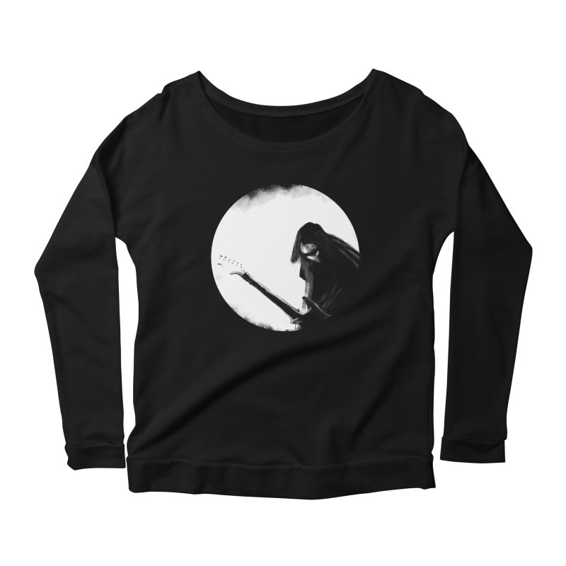 Shoegaze Women's Scoop Neck Longsleeve T-Shirt by Zombie Rust's Artist Shop
