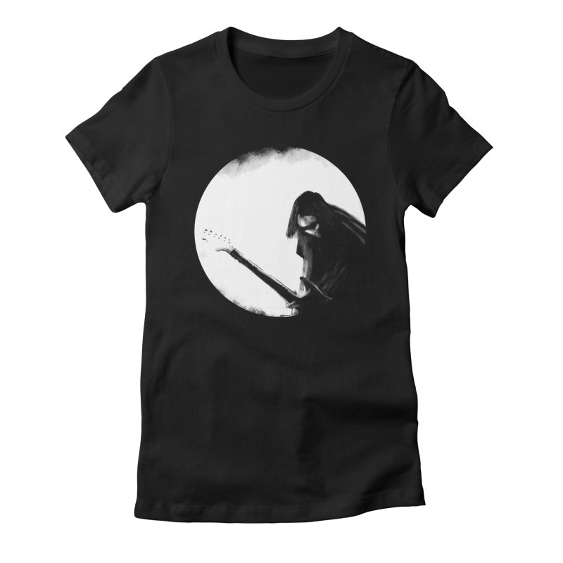 Shoegaze Women's Fitted T-Shirt by Zombie Rust's Artist Shop