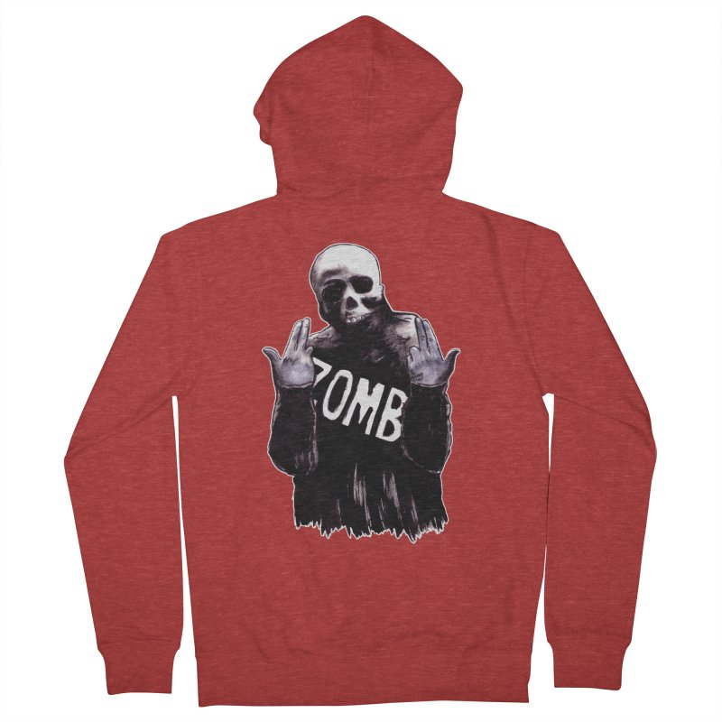 Keywords Men's French Terry Zip-Up Hoody by Zombie Rust's Artist Shop
