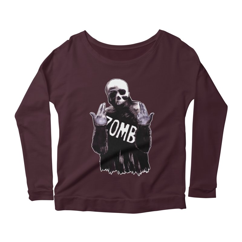 Keywords Women's Scoop Neck Longsleeve T-Shirt by Zombie Rust's Artist Shop
