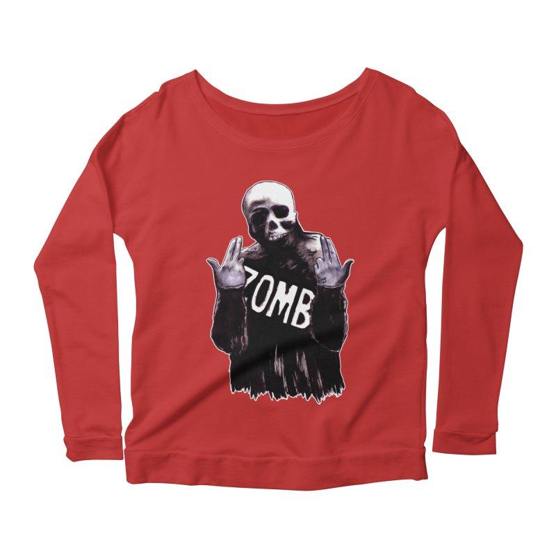 Keywords Women's Scoop Neck Longsleeve T-Shirt by Zombie Rust's Artist Shop
