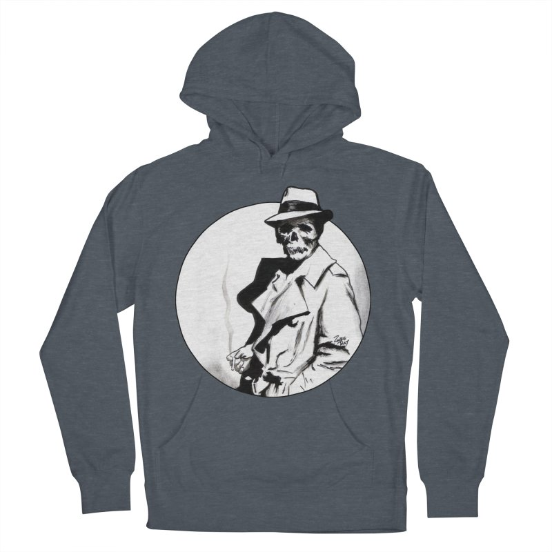 Skeleton Expatriate Women's French Terry Pullover Hoody by Zombie Rust's Artist Shop