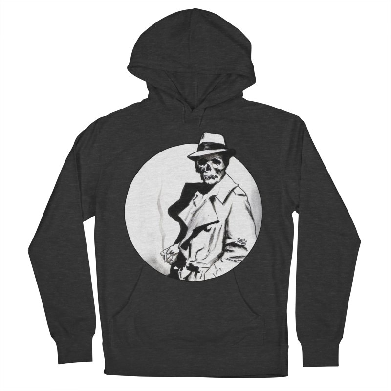 Skeleton Expatriate Men's French Terry Pullover Hoody by Zombie Rust's Artist Shop