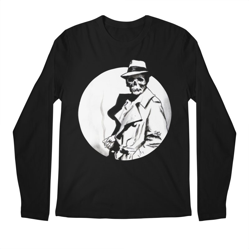 Skeleton Expatriate Men's Regular Longsleeve T-Shirt by Zombie Rust's Artist Shop