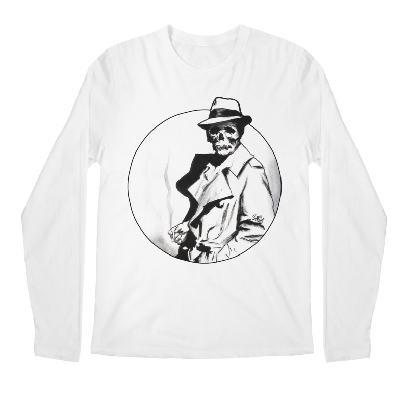 Skeleton Expatriate Men's Longsleeve T-Shirt by Zombie Rust's Artist Shop