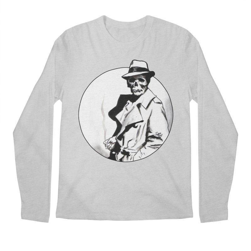 Skeleton Expatriate Men's Regular Longsleeve T-Shirt by Zombie Rust's Artist Shop
