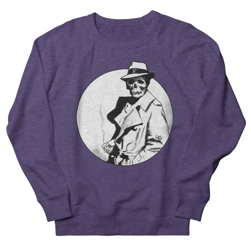Skeleton Expatriate Men's French Terry Sweatshirt by Zombie Rust's Artist Shop