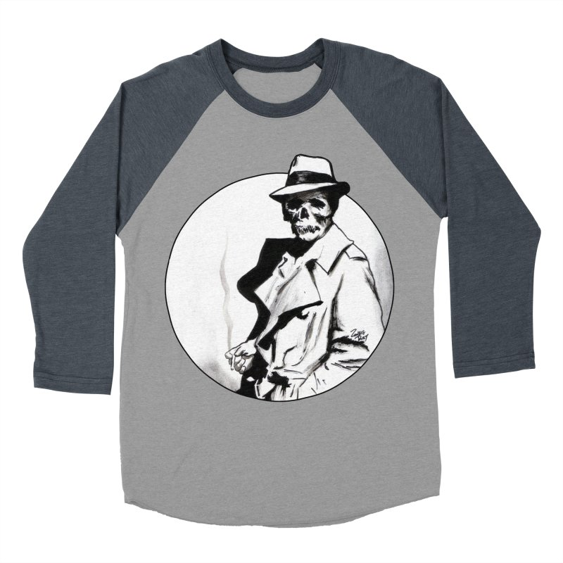 Skeleton Expatriate Women's Baseball Triblend Longsleeve T-Shirt by Zombie Rust's Artist Shop
