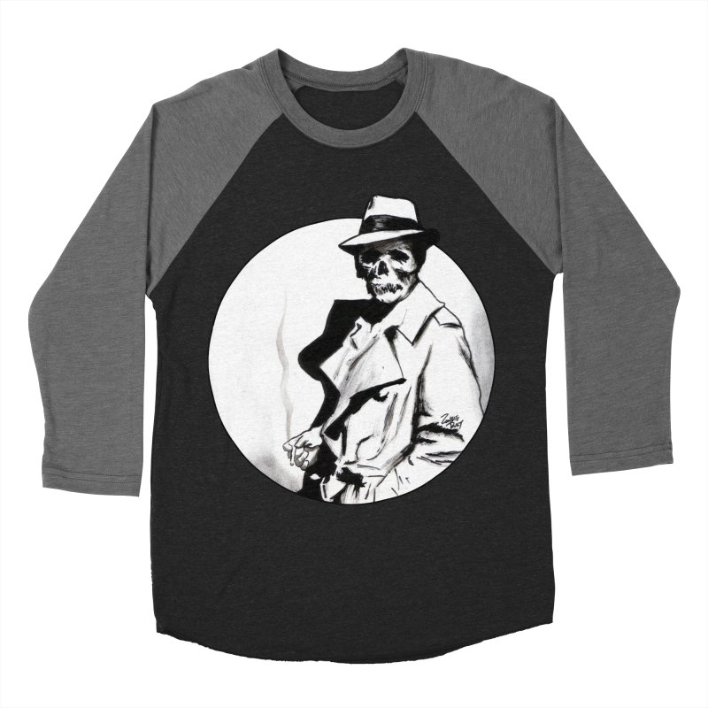 Skeleton Expatriate Men's Baseball Triblend T-Shirt by Zombie Rust's Artist Shop