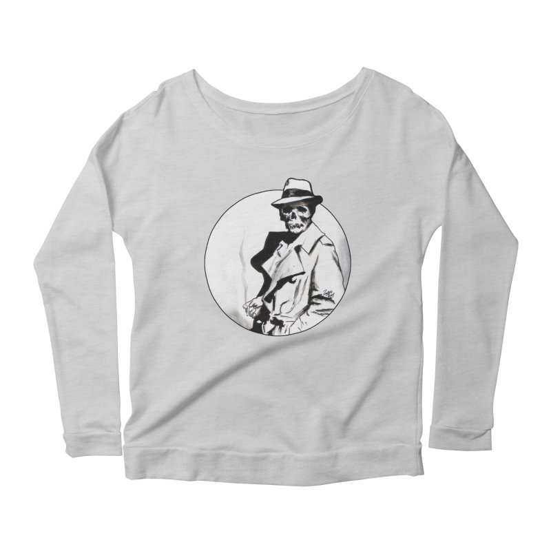 Skeleton Expatriate Women's Longsleeve T-Shirt by Zombie Rust's Artist Shop