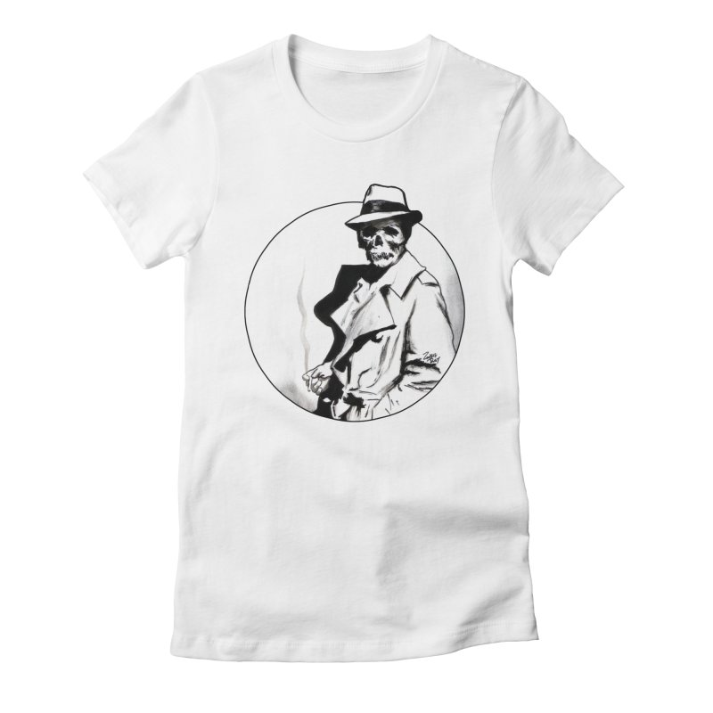Skeleton Expatriate Women's Fitted T-Shirt by Zombie Rust's Artist Shop