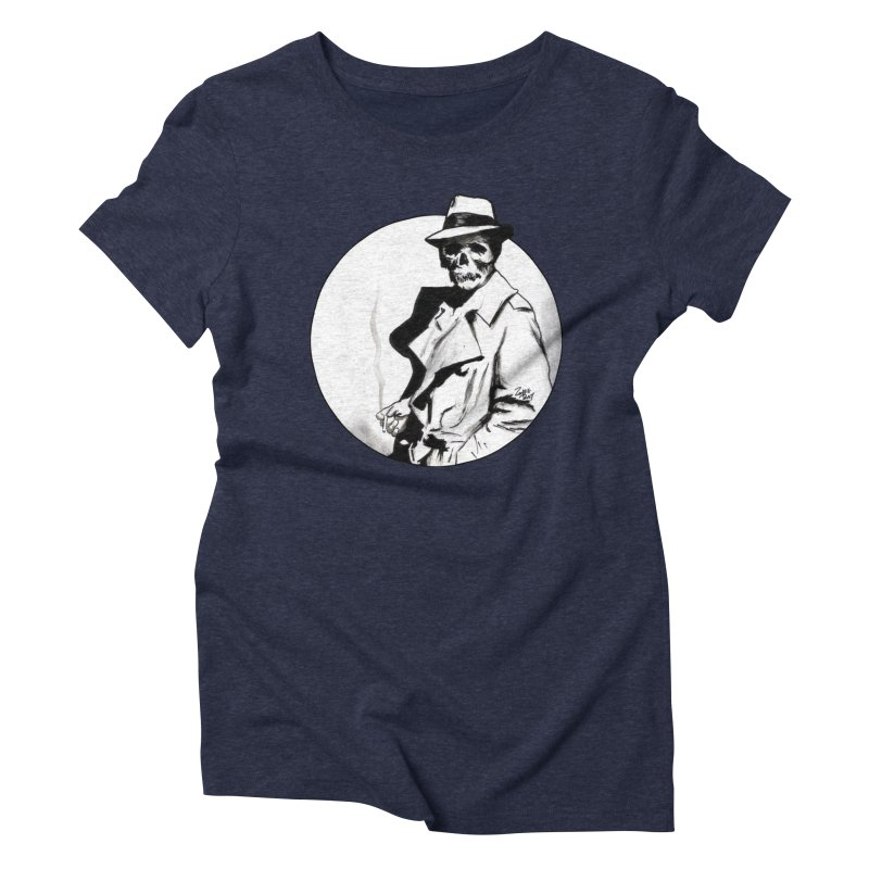 Skeleton Expatriate Women's Triblend T-shirt by Zombie Rust's Artist Shop