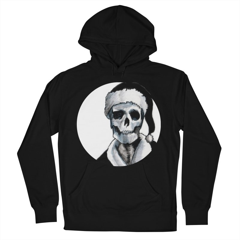 Blackest Ever Black Xmas Men's French Terry Pullover Hoody by Zombie Rust's Artist Shop