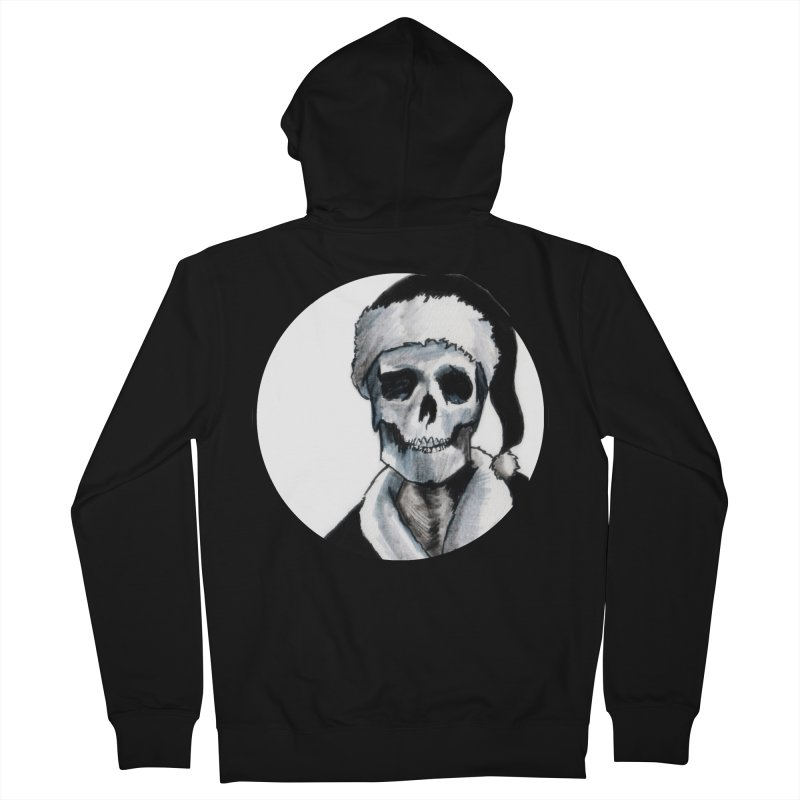 Blackest Ever Black Xmas Women's French Terry Zip-Up Hoody by Zombie Rust's Artist Shop
