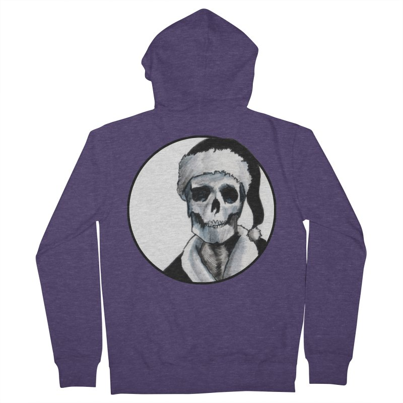 Blackest Ever Black Xmas Men's Zip-Up Hoody by Zombie Rust's Artist Shop