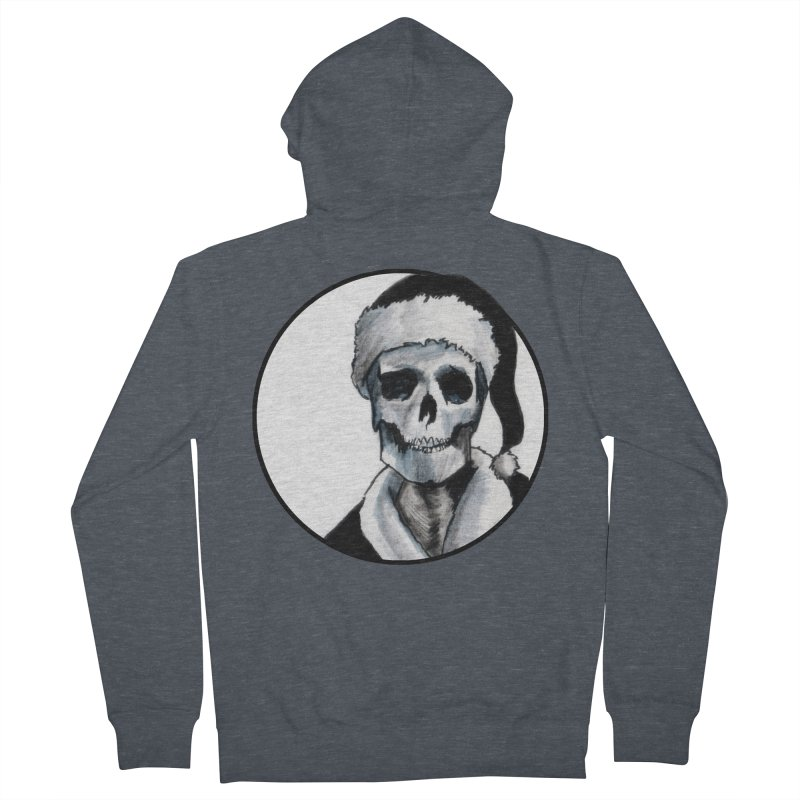 Blackest Ever Black Xmas Men's French Terry Zip-Up Hoody by Zombie Rust's Artist Shop