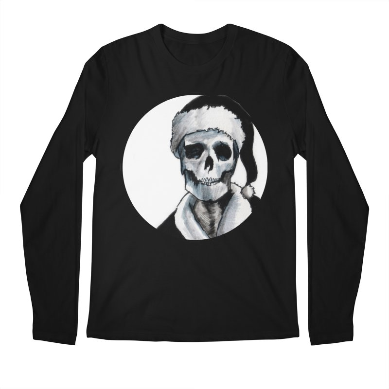 Blackest Ever Black Xmas Men's Longsleeve T-Shirt by Zombie Rust's Artist Shop