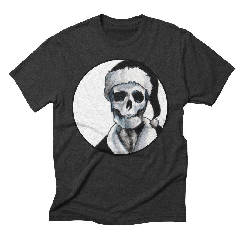 Blackest Ever Black Xmas Men's Triblend T-Shirt by Zombie Rust's Artist Shop