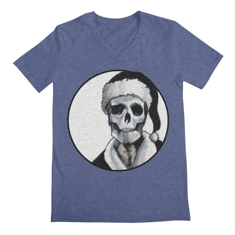 Blackest Ever Black Xmas Men's V-Neck by Zombie Rust's Artist Shop