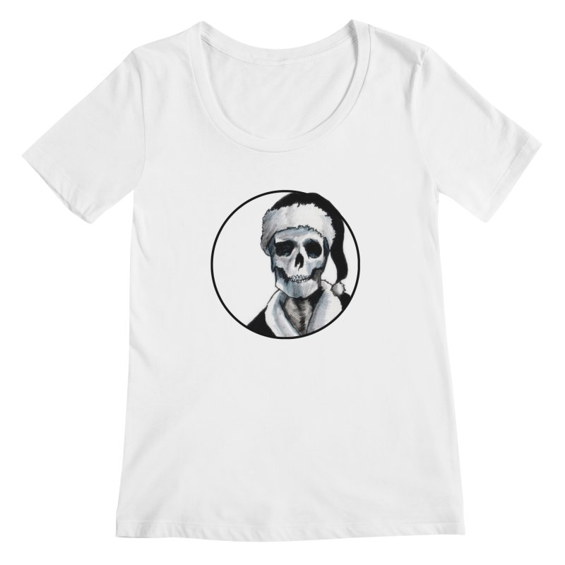 Blackest Ever Black Xmas Women's Scoopneck by Zombie Rust's Artist Shop