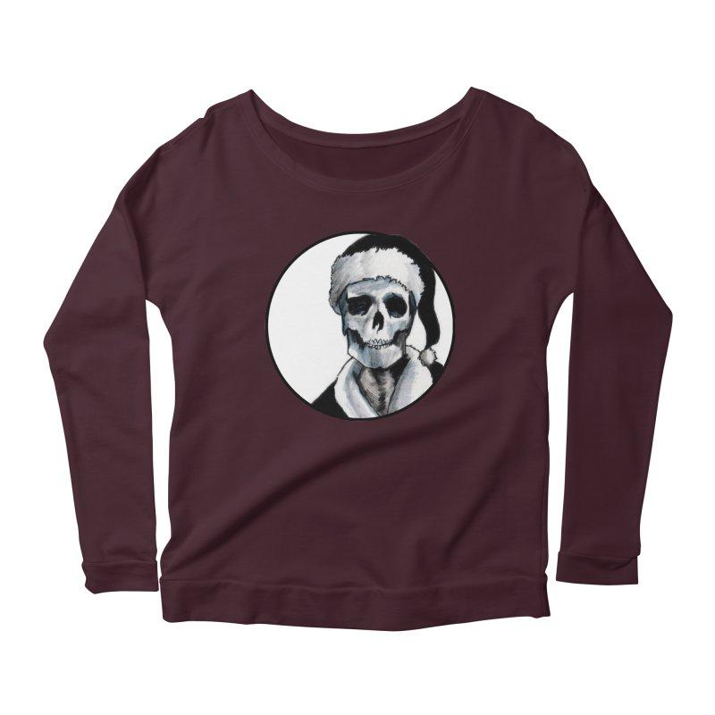 Blackest Ever Black Xmas Women's Scoop Neck Longsleeve T-Shirt by Zombie Rust's Artist Shop