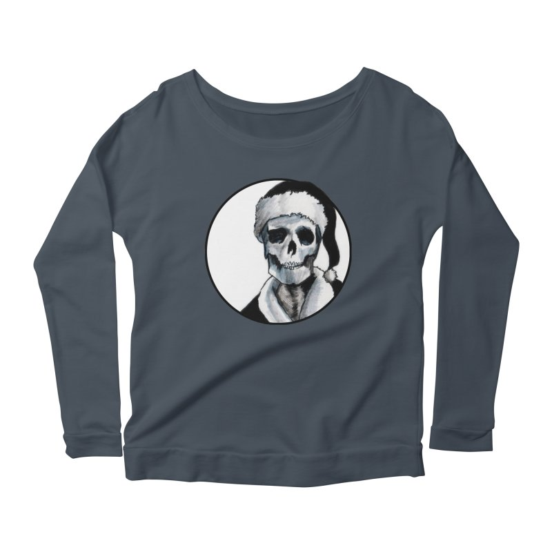 Blackest Ever Black Xmas Women's Scoop Neck Longsleeve T-Shirt by Zombie Rust's Artist Shop