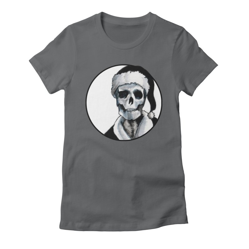 Blackest Ever Black Xmas Women's Fitted T-Shirt by Zombie Rust's Artist Shop