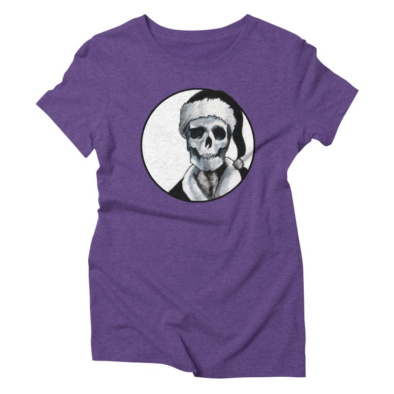 Blackest Ever Black Xmas Women's Triblend T-Shirt by Zombie Rust's Artist Shop