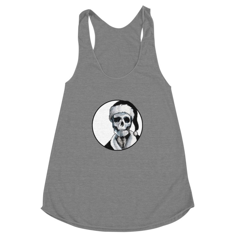 Blackest Ever Black Xmas Women's Racerback Triblend Tank by Zombie Rust's Artist Shop