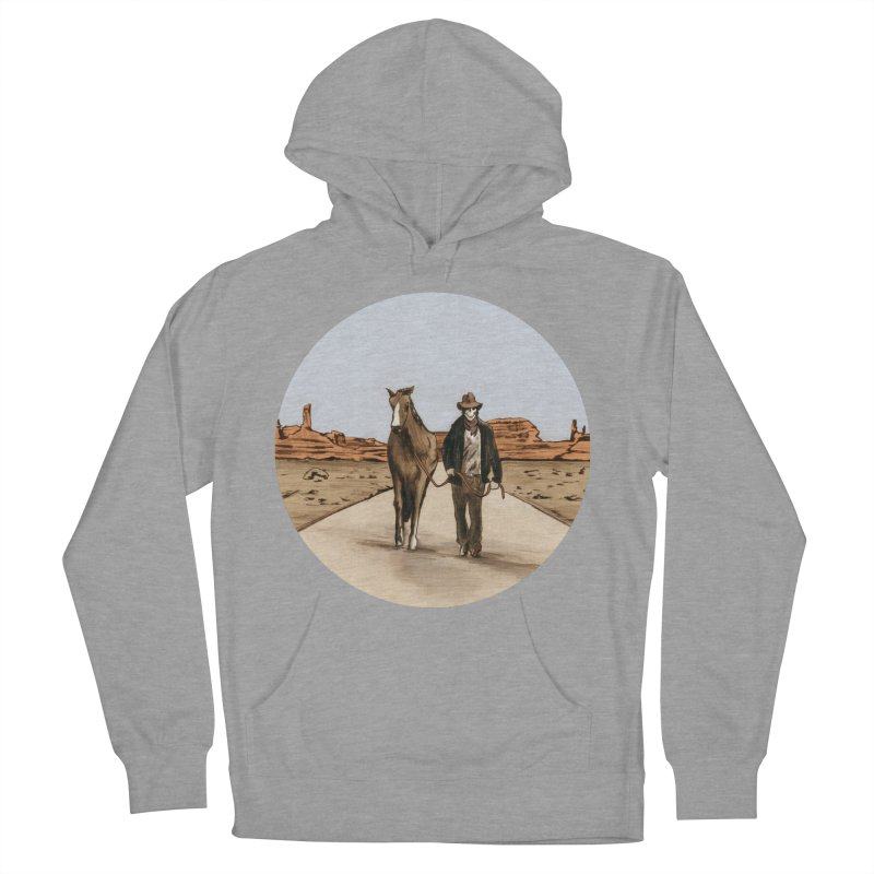 Death Americana Men's French Terry Pullover Hoody by Zombie Rust's Artist Shop