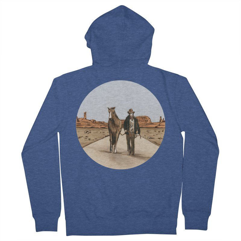 Death Americana Women's French Terry Zip-Up Hoody by Zombie Rust's Artist Shop