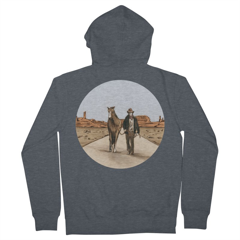 Death Americana Men's French Terry Zip-Up Hoody by Zombie Rust's Artist Shop