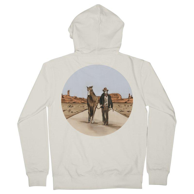 Death Americana Men's Zip-Up Hoody by Zombie Rust's Artist Shop