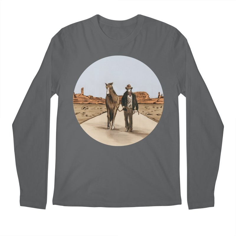 Death Americana Men's Regular Longsleeve T-Shirt by Zombie Rust's Artist Shop