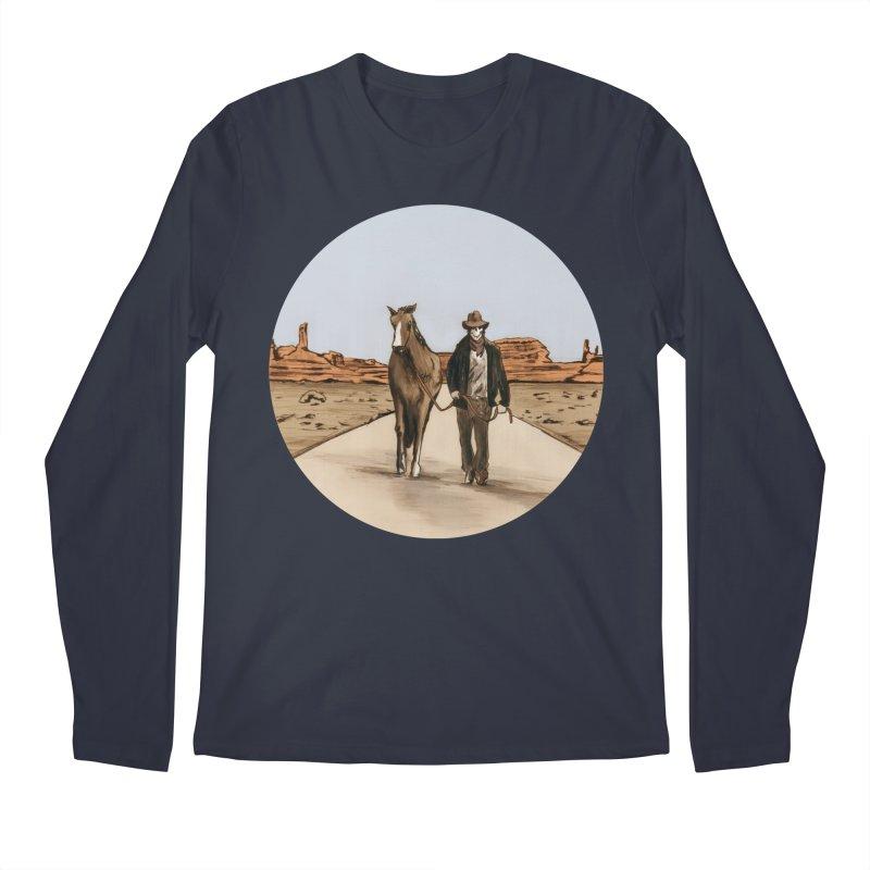 Death Americana Men's Regular Longsleeve T-Shirt by Zombie Rust's Artist Shop