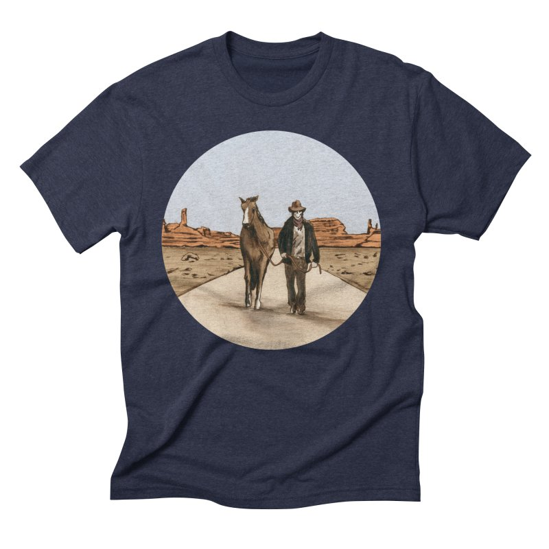 Death Americana Men's Triblend T-Shirt by Zombie Rust's Artist Shop