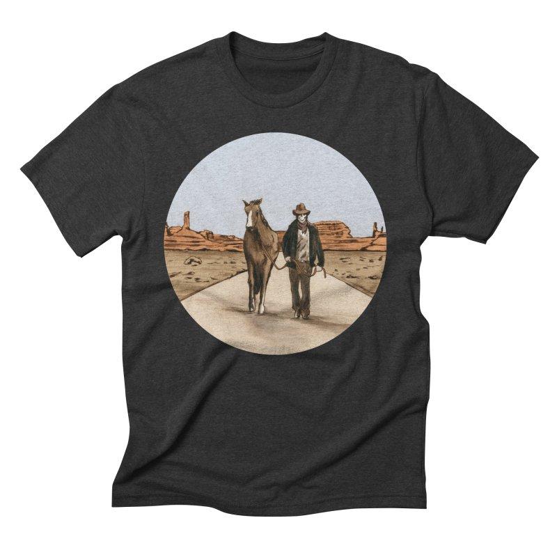 Death Americana Men's Triblend T-Shirt by Zombie Rust's Artist Shop